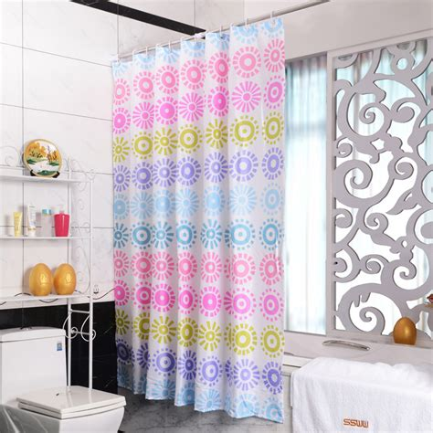 Colorful Shower Curtains Bathroom Beautiful Print Patterned Colorful Shower Curtain