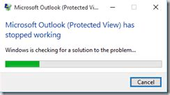 Office 365 Outlook Has Stopped Working Office 2016 Error Opening File Bhargav S It Playground