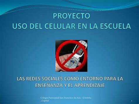 proyecto de la escuela proyecto celular en la escuela