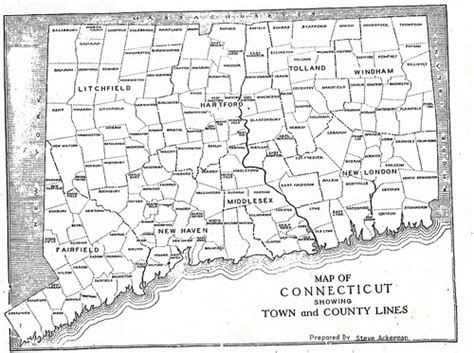 map of ct towns map of ct towns with names images