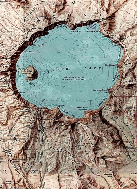 map crater lake oregon oregon maps perry casta 241 eda map collection ut library