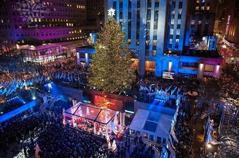 restaurant with view of christmas tree at rockefeller rockefeller center tree lighting 2018 gala with premium entertainment and