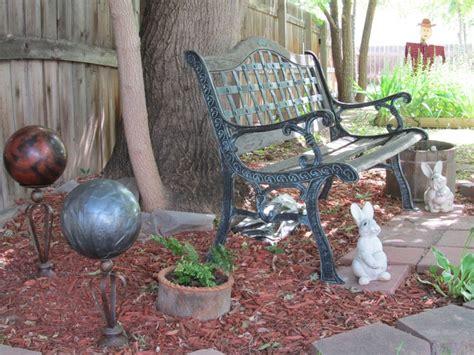 Repurposed Garden Decor Garden Decor Repurposing Bowling Balls And Metal Candle Holders 4 H Ideas Pinterest