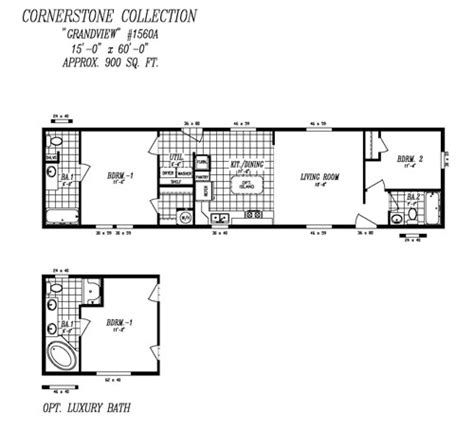 14x60 mobile home floor plans quotes