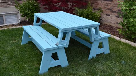 bench that turns into a picnic table bench that turns into picnic table table idea