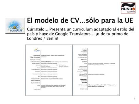 Modelo Curriculum Ue Claves Para Estudiar Y Trabajar En El Extranjero