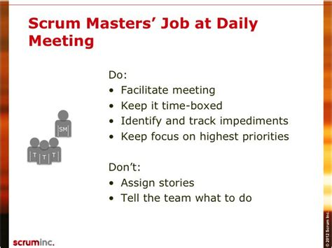 The Daily Scrum Scrum Inc Scrum Daily Standup Template