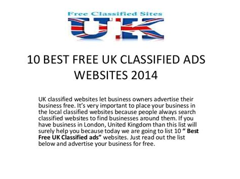 10 best free uk classified ads websites 2014