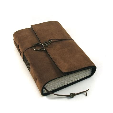 chocolate leather journal handmade