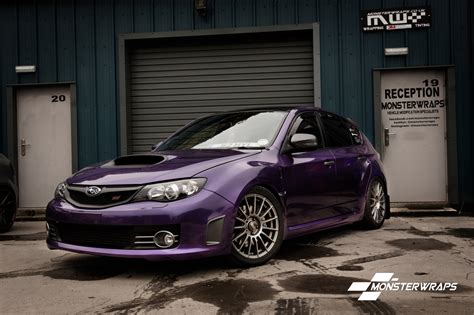 purple subaru impreza subaru impreza wrx gloss metallic purple full wrap