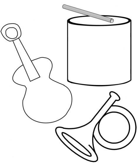imagenes musicales para pintar instrumentos musicales para colorear y pintar colorear
