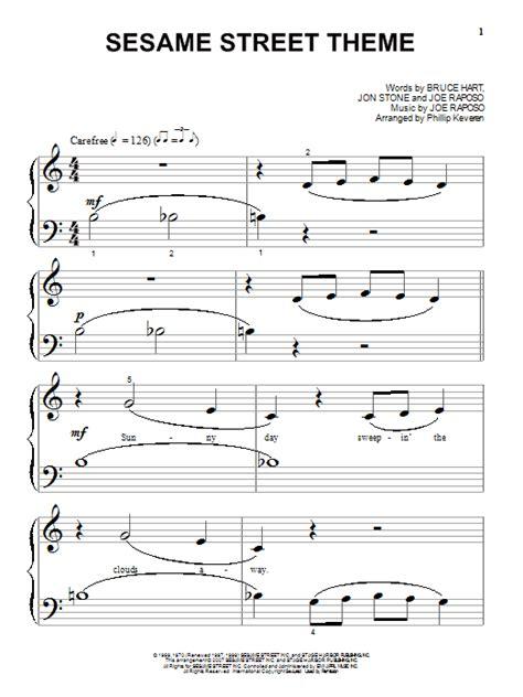 theme music in 3 sesame street theme sheet music direct