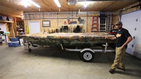 my 16 low profile boat blind youtube - Low Profile Duck Boat Blind