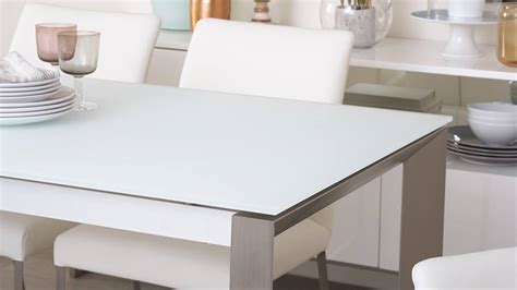 frosted glass dining table and chairs white frosted glass extending dining table 4 to 8 seater