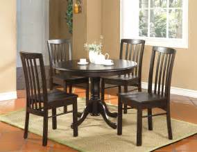 Furniture Kitchen Sets 5pc Kitchen Dinette Set Table And 4 Chairs Walnut Ebay