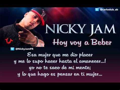 imagenes de nicky jam con frases quot nicky jam voy a beber quot letra grabaci 243 n de sonido