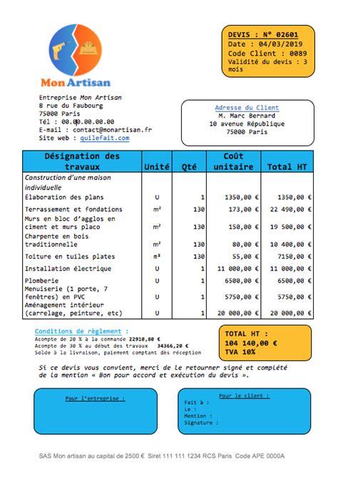 Exemple Devis Construction Maison Individuelle 2081 by Prix De Construction D Une Maison Individuelle Par Moi