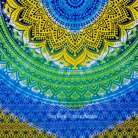 colorful ombre multi colorful tie dye rainbow ombre mandala tapestry