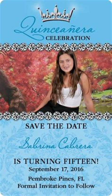 Quinceanera Save The Date Card Special Touches Pinterest Quinceanera The O Jays And Free Quinceanera Save The Date Templates