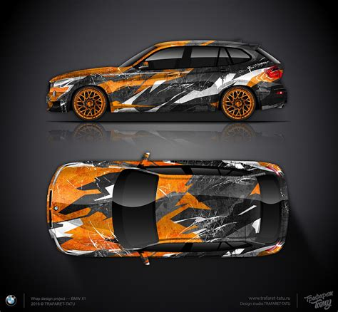 Folie Camouflage Orange by Design Concept 2 Bmw X1 Orange City Camo Car Wrap