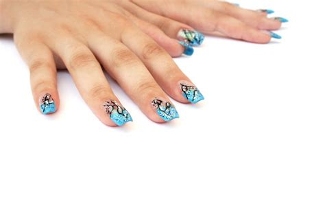 Nageldesign Nailart by Nageldesign Nailart Blau Weiss T 252 Rkis Nageldesign Magazin