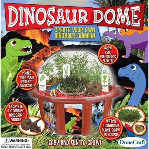 how to grow a dinosaur books dinosaur dome plant growing kit educational toys planet