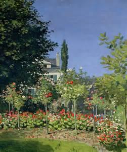 flowering garden at sainte adresse painting by claude monet