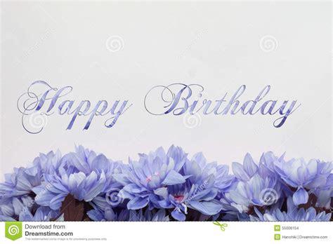 auguri di buon compleanno con i fiori scheda di buon compleanno con i fiori illustrazione di