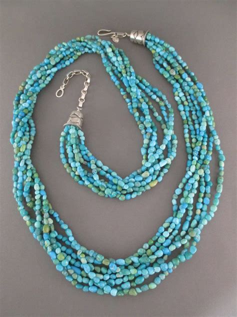 turquoise necklace 7 strand turquoise necklace