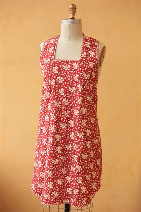 sewing vintage apron vintage notions slipover apron instant download