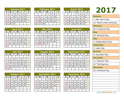printable calendar 2017 with holidays 2017 calendar with holidays free printable calendars 2017