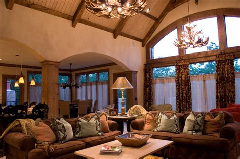 lodge themed living room lodge style lake house