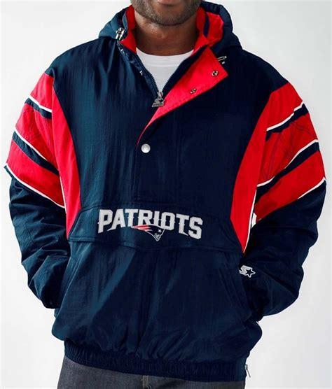 new england patriots men s starter impact 1 2 zip pullover
