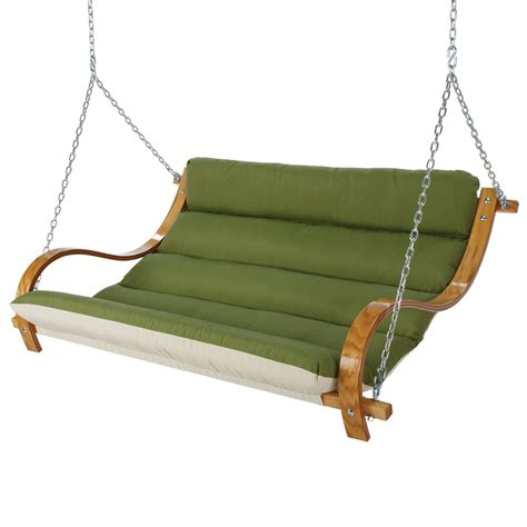 cushion swing spectrum cilantro deluxe cushioned double porch swing
