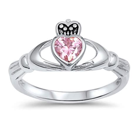 claddagh promise ring new 925 sterling silver