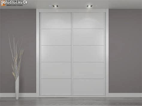 frente de armario lacado en blanco de puertas correderas modelo ch   medida
