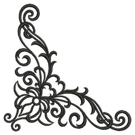corner design fancy corner scroll designs corner scroll design tattoo