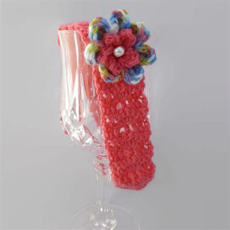 Headband Baby Handmade 17 crochet headband bright pink flower gift