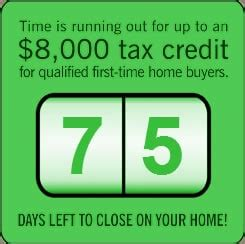 8000 time home buyers 75 days left tucson real estate