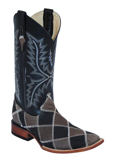 Ferrini Patchwork Boots - mens ferrini black caiman print patchwork s toe western