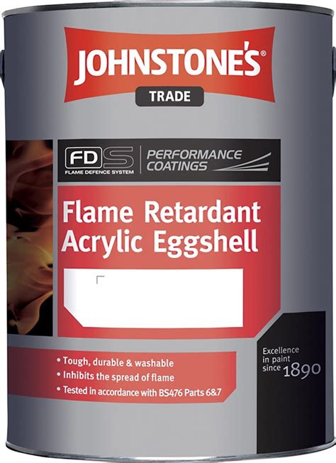 acrylic paint johnstones johnstone s retardant acrylic eggshell magnolia 5 litres