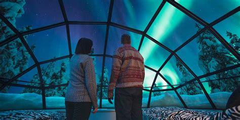 iceland northern lights igloo hotel finland glass igloo hotel quot kakslauttanen quot arctic resort