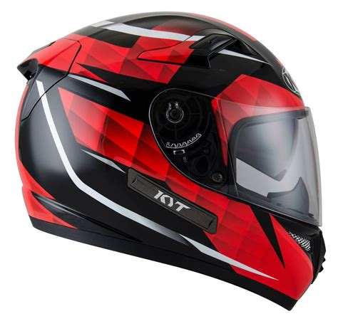 Helm Kyt Rocket White Black image gallery kyt venom