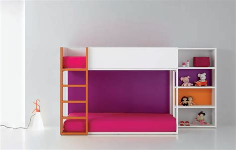 Purple Bunk Bed Pink And Purple Bunkbed Color With Baby Doll Rack