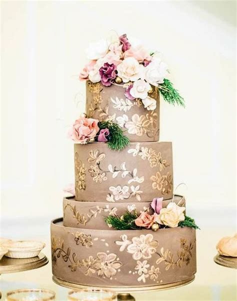 Simple Autumn Wedding Cake by Fall Wedding Inspiration Simple Elegance By