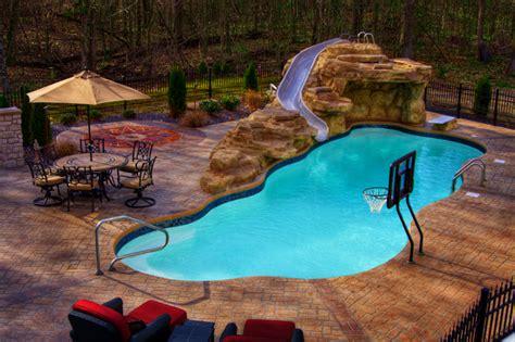deep backyard pool inground pools farmers pool and spa cape girardeau mo