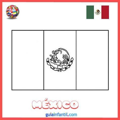 dibujos de banderas del mundo para imprimir dibujo de la bandera de m 233 xico para colorear e imprimir