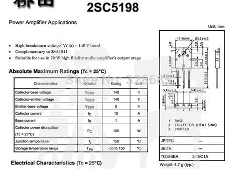 power transistor c5198 free shipping c5198 10a 140v dip audio power lifier power transistor 50pcs lot in