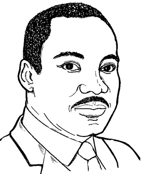 printable coloring page of martin luther king jr martin luther king coloring pages kids world