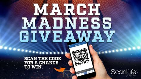 March Madness Sweepstakes - scanlife march madness giveaway scanlife blog
